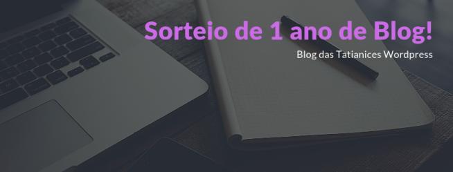 Sorteio de 1 ano de Blog!