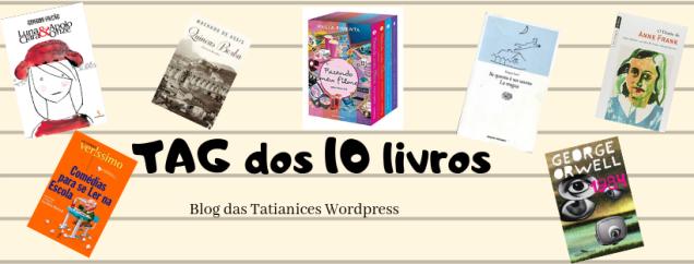 TAG dos 10 livros