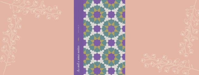 """Imagem inicial com a capa de """"As mil e uma noites"""""""